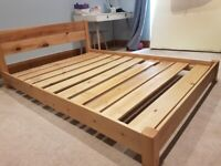 Wooden Bed Frame, Double, Solid Wood