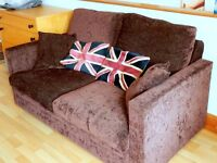 Dark Brown 2 Seater Fold Out Sofa Bed. Only £80, RRP: £529.99