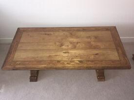 WOW!! Hand-crafted, Flagstone Mango Solid Wood Coffee Table.152cm x 75cm x 50cm.