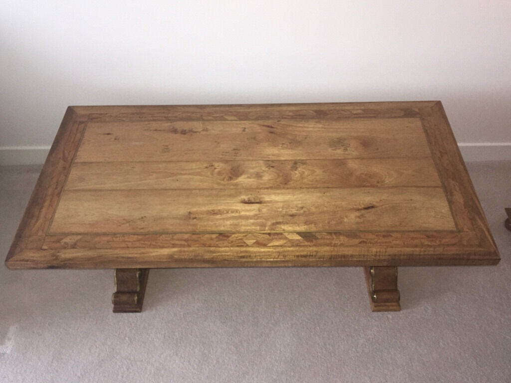 Wow hand crafted flagstone mango solid wood coffee table152cm hand crafted flagstone mango solid wood coffee table152cm x geotapseo Images