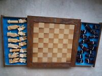 Handcarved chess set
