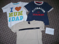 Bundle of 8 Summer clothes for boy 12-18mths/ 12-18 mths. In excellent, very good and good condition