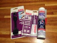 Unibond bathroom kitchen silicon sealer kit + remover