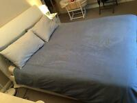 Ikea Vanvik double bed 160x200 - white - As new! - negotiable price