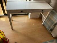 HEMNES Desk with 2 drawers, white stain120x47 cm