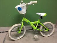 Girls 16 inch Xcool bike with basket and stabilisers
