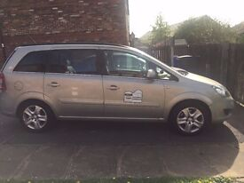 Vauxhall Zafira 7 seater, Diesel, 2010. Full service history.Rossendale Hackney carriage plate.