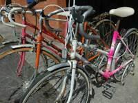 Job Lot - Ladies Vintage Road Bikes