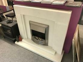 Brand new marble fireplace
