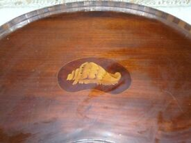 wooden kidney shaped tray