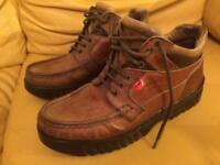 Kickers Brown leather Mens Size 8 (42)