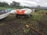 Inflatable boat, rib, sib, dinghy, 15hp mercury 4stroke