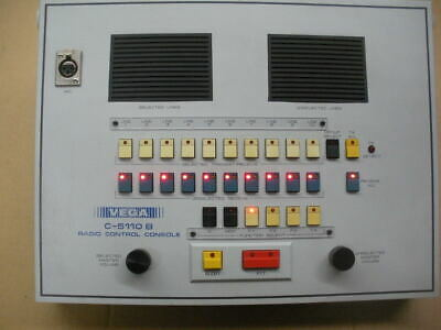 Vega C-5110b Radio Control Console Dispatch 10 Line 4 Frequency Wmicrophone