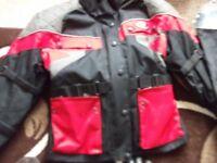 1 Waterproof Motorbike Jacket. 1 Pair Waterproof Motorbike Trousers. (Will sell separate)