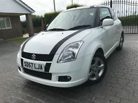 \\\ 57 REG SUZUKI SWIFT VVTS GLX \\\ ONLY 54K DIAMOND WHITE \\\ £2300