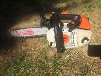 Stihl MS201TC chainsaw with 12 inch bar 1 of 2
