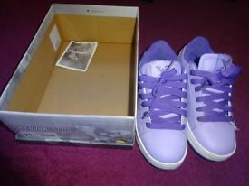 Girls heelys (size 2) purple - hardly worn