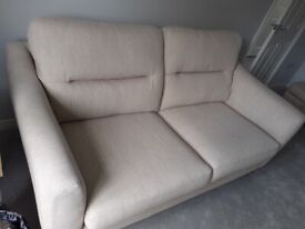 3 Seater cream sofa well made by Alstons in good condition
