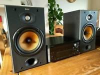 B&W DM601 S2 HiFi Speakers in Black