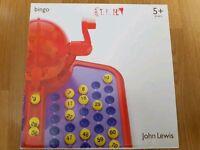 Boxed bingo game from John Lewis