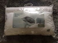Microfibre Pillow with Memory Foam Neck Support