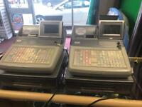 CASIO TE-4500 CASH REGISTERS X2 ONLY USED FOR 1 YEAR