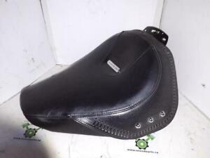 USED - 2008 Later FLSTF Softail Fatboy Solo Seat - small tear as seen in photo - normal wear - OEM 52515-07A - ID 2074