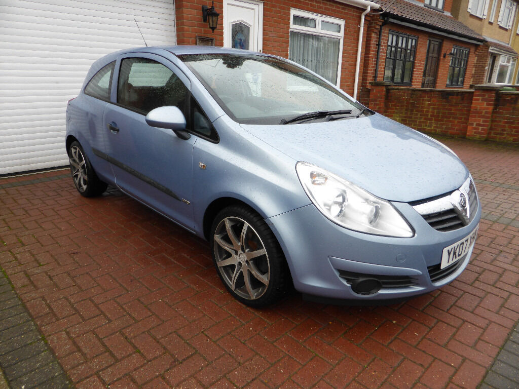 Vauxhall Corsa Life 1L petrol, Full MOT, 3 door hatch, 2007, 07 reg, e/w, e/m, c/l alloys £1495