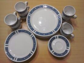 Blue Steelite Dinner Set 25 pieces
