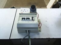 rcd to fit electrics to your trailer tent with 2x sockets and 4 12v sockets