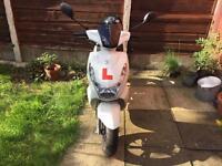Peugeot Kisbee 2016 50cc plus lock and large helmet!