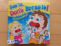 SAY IT . . . DON'T SPRAY IT! GAME ~ A FAMILY TOY FOR AGE 6+ ~ EXCELLENT CONDITION ~ £2