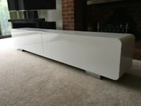 Gloss white TV stand or wall unit