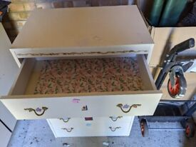 Cream chest of drawers