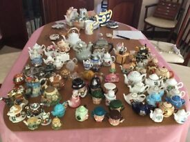 Large collection of miniature teapots