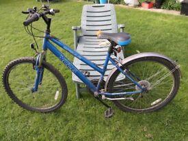 Ladies / Girls 18 Gear Apollo Blue Framed Bike Weymouth