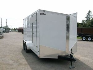 2017 Stealth Trailers HD CARGO 7' X 16' V-NOSE 2 ESSIEUX CONTRAC