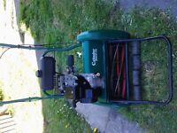 PETROL LAWN MOWER QUALCAST CLASSIC 17S CYLINDER MOWER REAR ROLLER SELF DRIVE , lawnmower