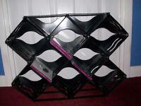 Large Black Plastic CD Rack