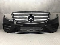 2016 - 2018 MERCEDES BENZ E CLASS W203 AMG LINE FULLY COMPLETE FRONT BUMPER IN BLACK + RADAR SENSOR for sale  Halifax, West Yorkshire