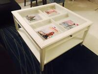 Chic Ikea Coffee Table White with draw. Excellent condition.