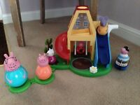 Peppa Pig weeble playhouse & George Pig pirate boat