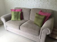Medium size 2 Seater Sofa, Armchair and footstool
