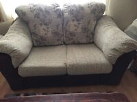Sofa two seater brown/beige