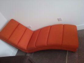 Orange chaise