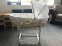 Mothercare Moses basket. Used twice only.
