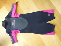 C-Skins Girls 2mm Shorty Wetsuit - Size 5 yrs (approx)