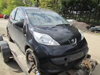 PEUGEOT 107 PETROL ENGINE GEARBOX FRONT END BREAKING PARTS