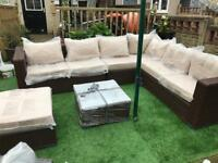 Yakoe Papaver Outdoor Brown Corner Sofa Rattan Set - Free Delivery Available