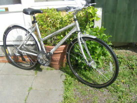 "LADIES MARIN HYBRID BIKE 19"" ALUMINIUM FRAME IN GOOD WORKING ORDER"